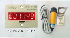 Contaimpulsi + sensore infrarosso 12-24 VDC contapezzi ,conta impulsi con reset