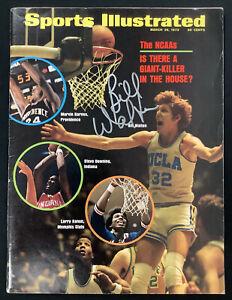 Bill Walton Signed Sports Illustrated 3/26/73 No Label UCLA Bruins Auto HOF JSA