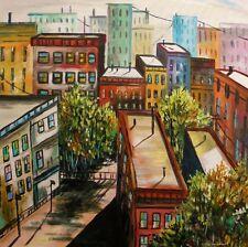 ORIGINAL City Landscape Painting John Williams art JMW Impressionism  Canvas