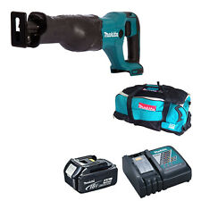 MAKITA 18V DJR186 RECIPROCATING SAW BL1840 BATTERY DC18RC CHARGER & DK18027 BAG