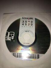 Lexmark 3500/4500 Series CD-2 Installation CD setup software For Macintosh Only