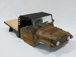 RC Crawler Body 1/10 Toyota Land Cruiser FJ45 Troopy with Flat Rear for Axial