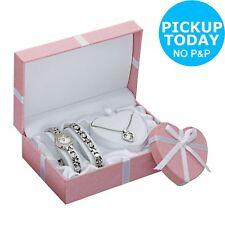 Limit Ladies' Silver Bracelet Pendant and Watch Set 228356688