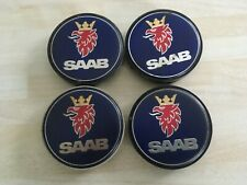 4x Saab 63mm wheel centre caps 12802437  #  JL87 / 3
