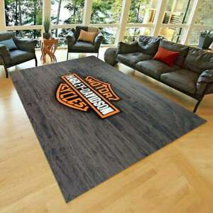 Harley Davidson 30 Rug, Fan Carpet, NonSlip Floor Carpet,Teen's Rug,Area Rug,