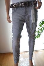 JEWELLY LEXXURY Jeans Hose Baggy Boyfriend 42 Frühjahr Sommer grau Italy St. Neu