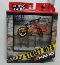 New Flick Trix 2011 Street Hits Haro Bikes Red Yellow Finger Bike Flat Bar Rail