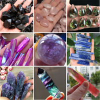 Charm Natural Pink Purple Black Point Quartz Crystal Rock Stone Mineral Specimen