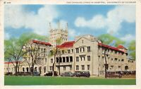 Vintage The Chicago Lying In Hospital University of Chicago  Linen Postcard 1942