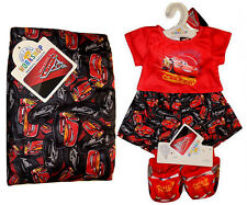 Build a Bear Disney Pixar CARS Lightning McQueen Teddy PJs Slippers Sleeping Bag