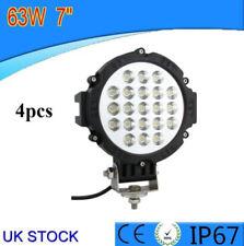 4 un. 63W LED Luz de Trabajo Lámpara Puntual de 5200lm 12V 24V Bicicleta de la nave Barco SUV ATV Barco 4X4
