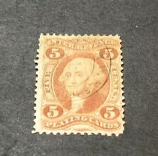 Us Stamp Scott# R28c Playing Cards Washington 1862-71 Strip of 3 L123