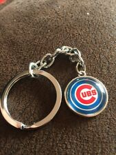 CHICAGO CUBS Baseball MLB Iconic Logo Metal Key Ring Unique Raised Front