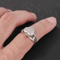 Heart Cremation Urn Finger Rings Pet Memorial Ashes Ring Jewelry + Screwdriver