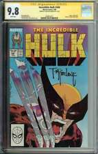 Incredible Hulk #340 SS CGC 9.8 Auto Todd McFarlane VS Wolverine