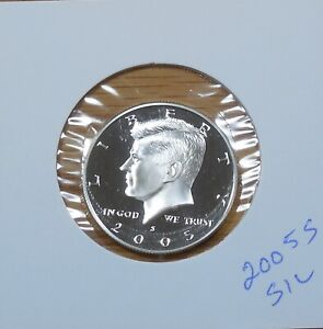E-30-18 NOT ROLL 2005-S KENNEDY CAMEO HALF DOLLAR FROM PROOF SET