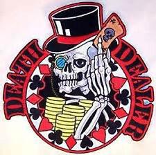 DEATH DEALER PATCH 510 poker cards skulls patches skull skeleton casino player
