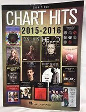 Hal Leonard Chart Hits of 2015-2016 for Easy Piano Coldplay Adele