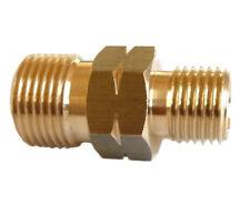 "Doppelnippel 1/4"" links x 3/8"" links Doppelgewinde Schlauchverbinder Propan"