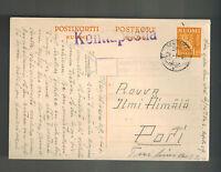 1940 Finland Army soldier Feldpost Postcard Cover to Pori Kentiposta
