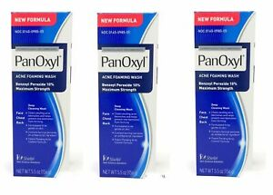PanOxyl 10 % Percent  Acne Foaming Wash Daily Control 5.5 OZ (Pack Of 3 Tubes)