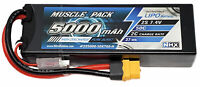 NHX Muscle Pack 2S 7.4V 5000mAh 50C Hard Case Lipo Battery w/ XT60 Connector