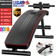 Adjustable Home Gym Exercise Abdominal Crunch Board Plate Decline Sit Up Bench