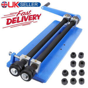 """18"""" Bead Roller Former Swager Rotary Metal Sheet Swaging Machine 6 Roll Sets UK"""