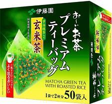 Itoen Genmaicha Green tea with roasted rice Matcha Premium tea bag 50 bags s474