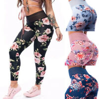 Women Anti-Cellulite Leggings Push-Up Yoga Pants Sports Fitness Printed Trousers