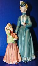 "Homco Figurine Mother Daughter Doll 8812 Mothers Day Easter Spring 8 1/2"" Lady"