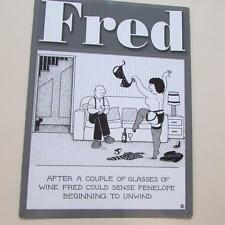 FRED BLACK & WHITE COMEDY HUMOUR VINTAGE RETRO LARGE STEEL WALL PLAQUE TIN SIGN