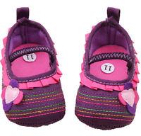 NEW Baby Girl Purple PInk Ruffle Flower Mary Jane Crib Shoes 0-6 6-12 12-18 M