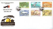 ZIMBABWE, 1997 10TH MEETING OF CITES, SG 942-947,  ON ILLUSTRATED FDC