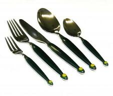 40Pc Modern Dark Green PREMIUM STAINLESS STEEL FLATWARE Service for 8
