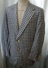 Vintage 70s Foulard Print Mens Silk Twill Jacket Blazer 42