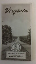 Vintage Virgina Department of Highways Booklet Map route roads travel driving