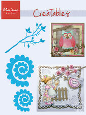 "MARIANNE CREATABLE DIES - ""BRANCH & FLOWER 1"" LR0256  FOR SCRAPBOOKING AND CARDS"