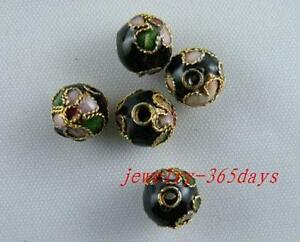 Cloisonne Enamel 9colors-1 Round Beads 6mm/8mm/10mm/12mm O10-O45