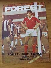 22/03/1980 Nottingham Forest v Southampton [European Cup Winning Season] (No obv