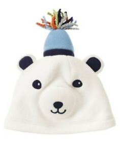GYMBOREE SNOW BEAR POLAR FLEECE BEAR HAT 0 3 6 12 18 24 NWT