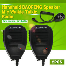 2pcs Mic  Handheld Speaker Walkie Talkie Radio UV-5R V2+ BF-F8+WP970 888 BAOFENG