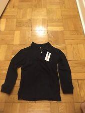New Izod Boys Navy Long sleeve polo  Size S(8)