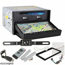 """2 Din In Dash Car Stereo Dvd Player 7"""" Touch Screen Gps Bluetooth+Backup Camera"""