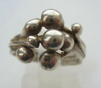 Vintage Sterling Silver Bubble Ring