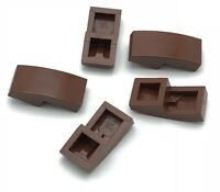 Lego 5 New Reddish Brown Slope Curved 2 x 1 No Studs Sloped Pieces Parts