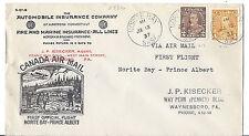 1937 Canada FFC  Commercial Ad Car Insurance US- Norite Bay-Prince Albert flight
