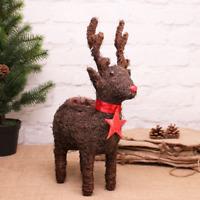 Rudolph The Reindeer Rattan Christmas Planter 45cm Height 26cm length