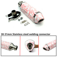 370mm Pink Motorcycle ATV Exhaust Muffler Pipe For Girl Maiden Woman Female Use