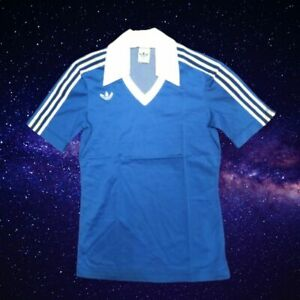 DEADSTOCK 70s NEW ADIDAS FOOT SHIRT JERESEY TRIKOT MAGLIA SIZE SMALL